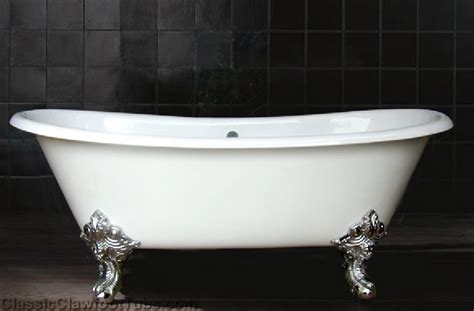 cast iron double ended slipper clawfoot tub wimperial