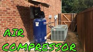 Moving Air Compressor Outside