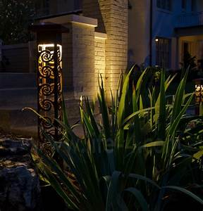 decorative steel bollard lights modern outdoor With outdoor lighting fixtures indianapolis