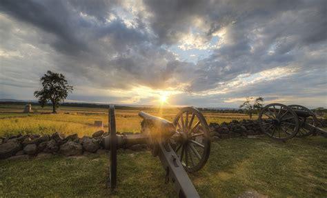 battlefield gettysburg park national military cemetery nps angle management cannons ridge gett gov tree sun island battery service rhode sit