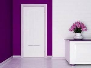 decoration porte interieur peinture maison design With porte d entrée alu avec recouvrir carrelage salle de bain adhesif