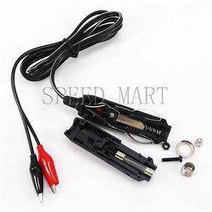 Car Cigarette Lighter Power Plug With 1m Wire  U0026 2 Clips