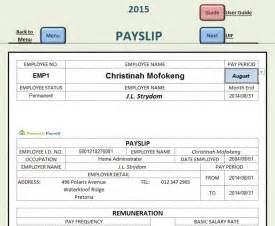 Pay Sheet Template Domestic Payroll South Africa