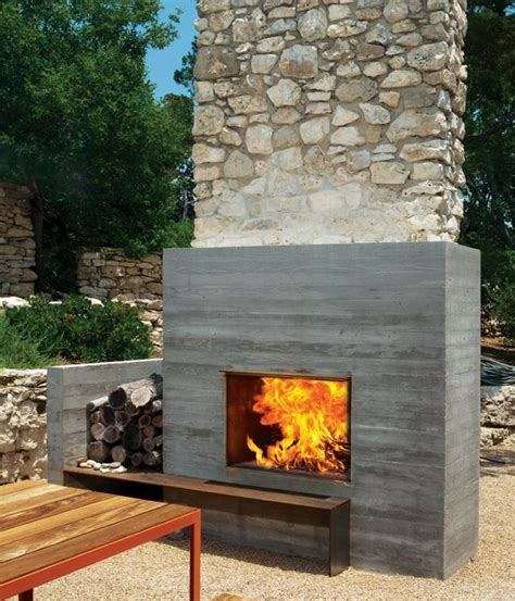 outdoor wood fireplace designs 12 amazing modern outdoor fireplaces