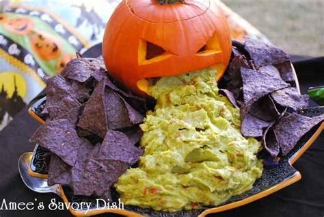 Pumpkin Throwing Up Guacamole by Spooky Halloween Treats And Appetizers Today S Every Mom