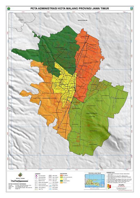 administrasi kota malang peta tematik indonesia