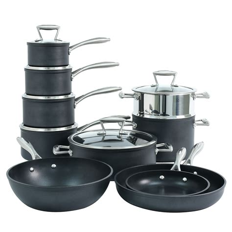 procook induction pans stick pots non cookware forged kitchen piece cooking steel stainless plate base matching elite