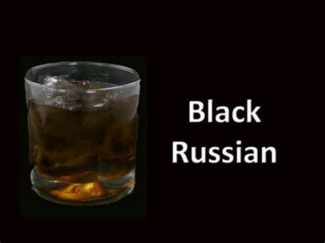 black russian black russian cocktail drink recipe youtube