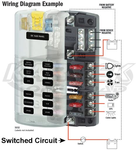 Blue Sea Fuse Box by Blue Sea Systems Split 12 Circuit Ato Blade Fuse Block