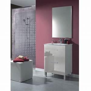 dekor meuble 60 salle de bain avec miroir achat vente With meuble salle de bain profondeur 36 cm