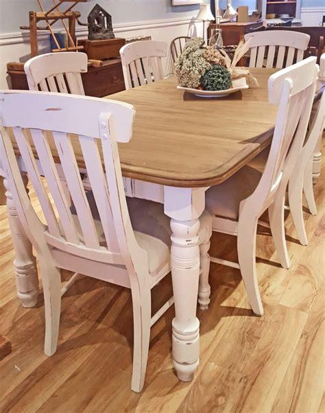 table cuisine bois blanc table crème blanc cassé dessus bois shabby rustique chic