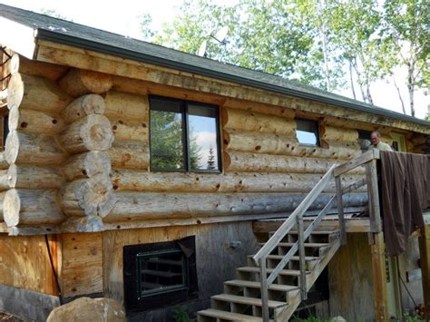 cleaning exterior logs  wi mn edmunds  company