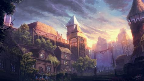 city fantasy hd artist  wallpapers images
