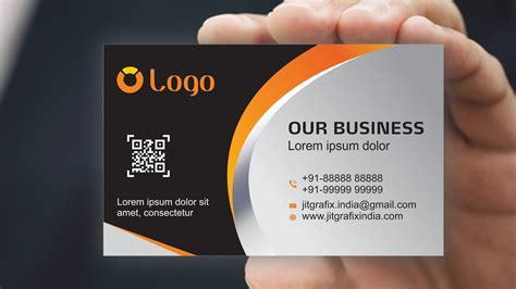 business card design  coreldraw  tutorial  jit
