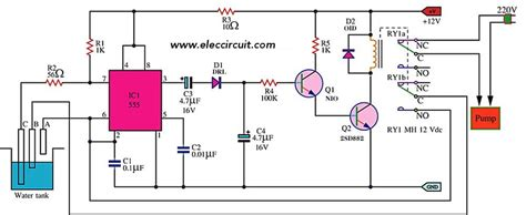 automatic water controller using 555 timer eleccircuit