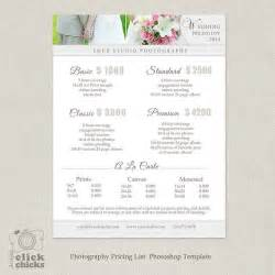 wedding photographer rates wedding photography package pricing list template photography pricing guide price list