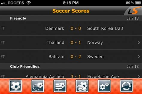 ipad app  real time soccer scores livescore imore