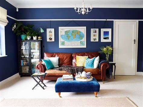 Htons Blue Living Room by Navy Blue Living Room Stylish Blue Living Room Makeover On