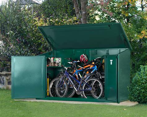 cycle storage sheds metal bike storage shed for 29 inch bikes asgard asgard