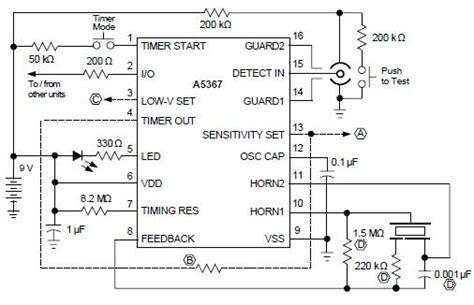 Ionization Smoke Detector Circuit Using