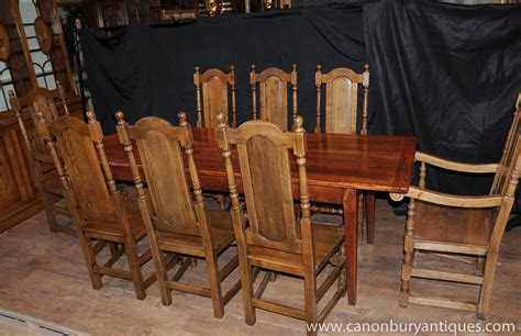 farm table dining set farmhouse dining set oak refectory table willam and mary