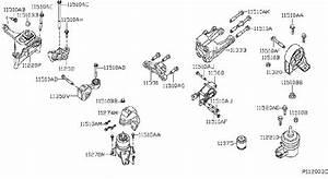 Nissan Altima Engine Mount  Rear   Transmission  Mounting