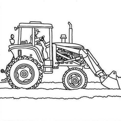 Kleurplaat Tractor Met Ploeg by Tractor Plows Coloring Page Printable