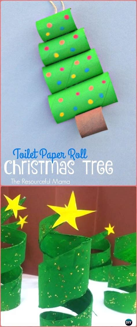 diy paper roll christmas craft ideas projects instructions