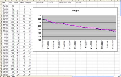 weight loss tracking spreadsheet template  google