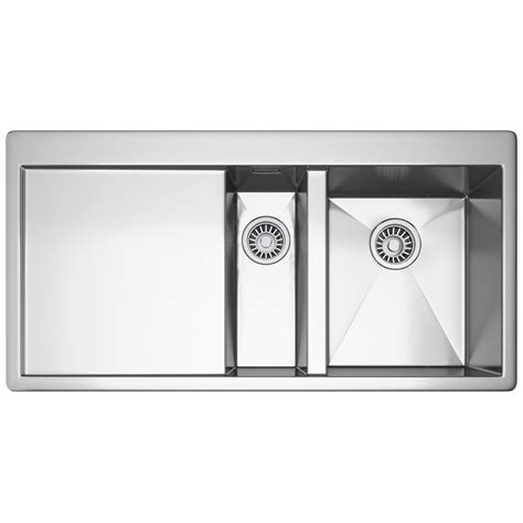 kitchen sinks 1 5 bowl franke planar ppx 251 slim top 1 5 bowl stainless steel 6053