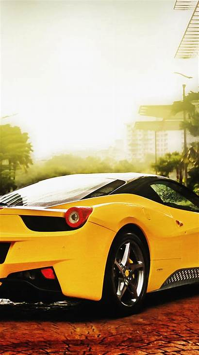 Ferrari 458 Yellow Wallpapers Android Htc Portrait