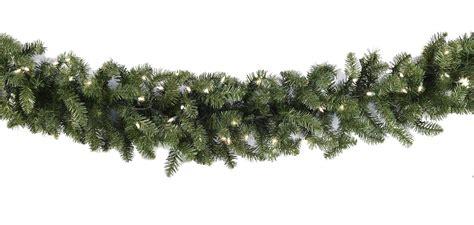 lighted christmas garland douglas fir prelit christmas