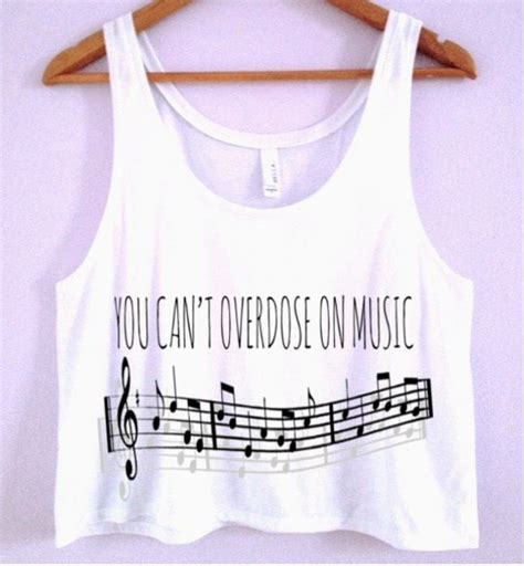 You Can't Overdose On Music Crop Top
