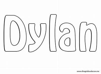 Dylan Coloring Nome Colorare Disegnidacolorare Disegni Salvato
