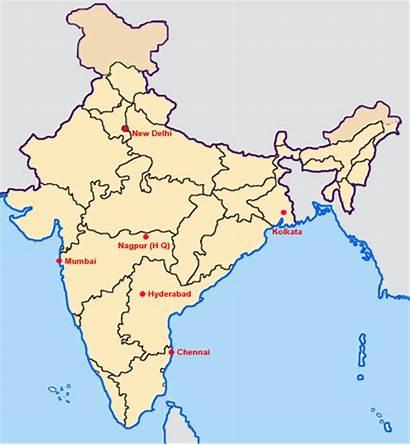 Map Indian Nagpur History Through India Examination
