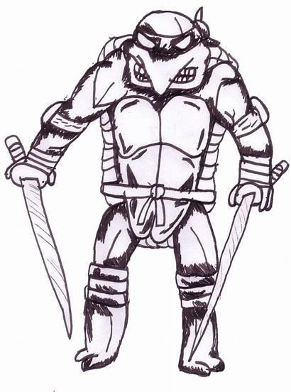 Ninja Turtles Mutant Teenage Drawings Leonardo