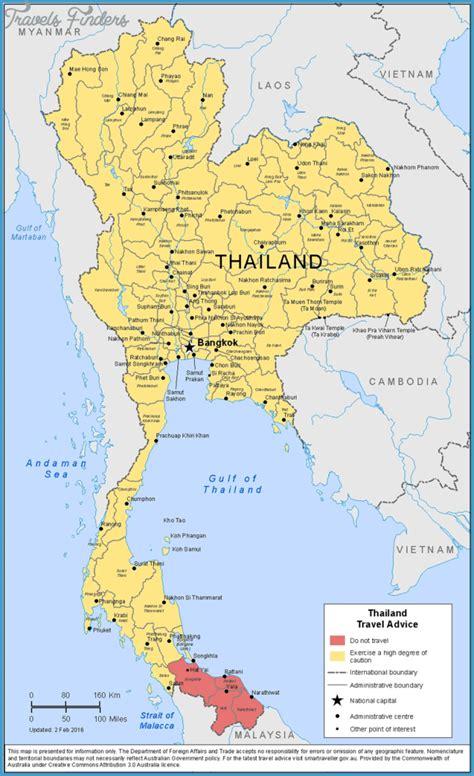 map  thailand thailand  map travelsfinderscom