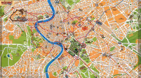 karten von italien mit strassenkarte von rom und