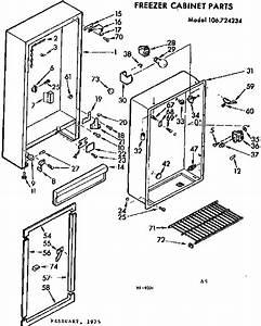 Kenmore 106724234 Upright Freezer Parts