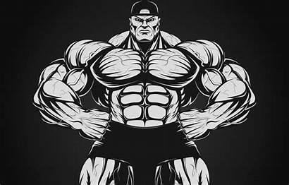 Bodybuilder Culturista Cartoon Dumbbell Domoor Testa Legno
