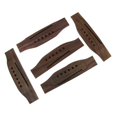 guitar bridge acoustic string rosewood saddle saddles 5pcs bridges parts martin musiclily accessories thru material folk