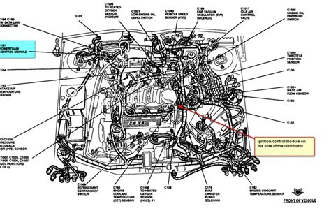 location  ignition module  taurus  powertrain