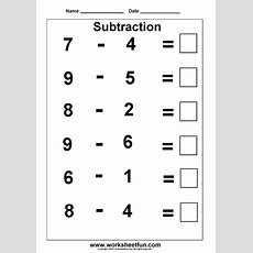 Subtraction  3 Kindergarten Subtraction Worksheets  Free Printable Worksheets Worksheetfun