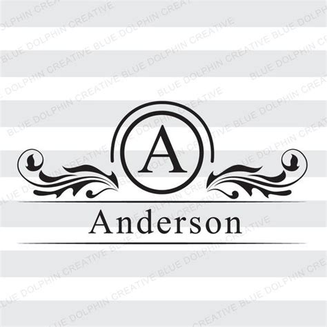 mailbox monogram  frame svg png  cutting file front