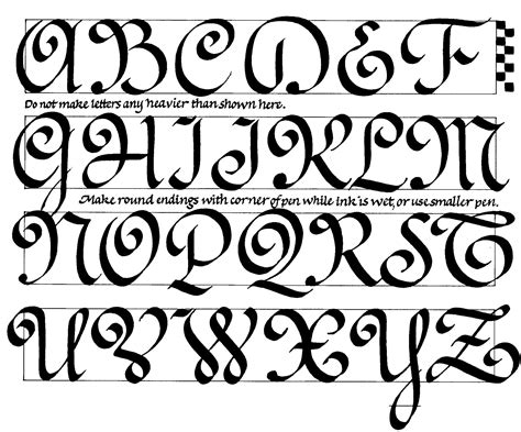 The Capitals For Ronde, A Popular French Calligraphy Style