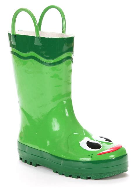 western chief toddler boys green frog rain boot