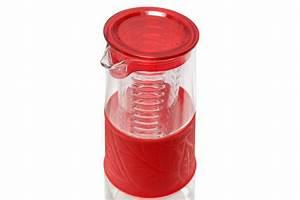 Karaffe Mit Fruchteinsatz : glaskaraffe mit fruchteinsatz rot deckel 1 liter glas karaffe pitcher kanne krug ebay ~ Watch28wear.com Haus und Dekorationen