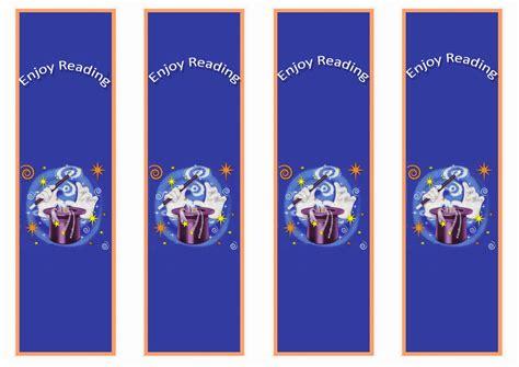 magic bookmarks birthday printable
