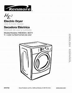 Kenmore 11086562500 User Manual Residential Dryer Manuals
