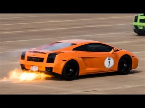 lamborghini engine turbo 1 800 hp lamborghini gallardo blows turbo and catches fire